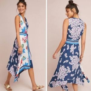 Anthropologie Maeve Botanica Faux Wrap Dress 8